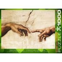 1000 Piece Creation Of Adam Puzzle By Michelangelo