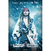 10cm x 15cm Jack Sparrow Pirates Of The Caribbean Postcard