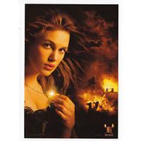 10cm x 15cm Kiera Knightly Pirates Of The Caribbean Fire Postcard