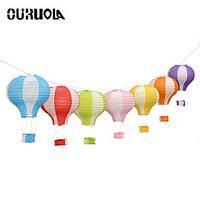 12\'\' 30cm Rainbow Hot Air Balloon Paper Lantern Kids Birthday Party Wedding Decoration