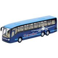 19cm Kids Globe Traffic Die Cast Pull Back Shuttle Bus With Light & Soundx 3