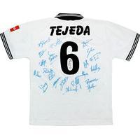 1995-96 Lugano Match Issue Away Signed Shirt Tejeda #6