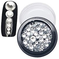 1PC More Section White Diamond Glass Drill Nail Art Act The Role Ofing is Tasted