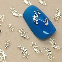 200PCS Shining Stars Golden Metal Slice Nail Art Decoration