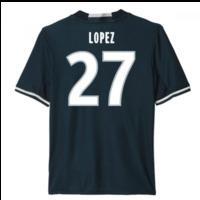 2016-17 Marseille Away Shirt (Lopez 27) - Kids