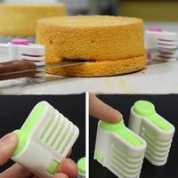 2pcs 5 Layers DIY Cake Bread Cutter Leveler Slicer Cutting Fixator Tools
