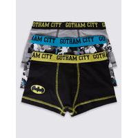 3 Pack Batman Cotton Trunks with Stretch (2-16 Years)