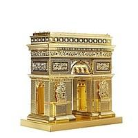 3D Puzzles Metal Puzzles For Gift Building Blocks Model Building Toy Famous buildings Metal 14 Years Up Silver Gold Toys