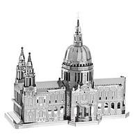 3D Puzzles Metal Puzzles For Gift Building Blocks Model Building Toy Famous buildings Architecture Metal 14 Years Up Silver Toys
