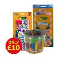 44 Piece Crayola Colouring and Painting Bundle