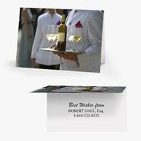 50 x Personalised Drinks Waiter Card - National Pens