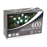 600 Cold White LED Multi Function Christmas Lights