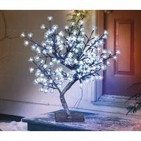 67cm Ice White Cherry Blossom Light Tree (Mains) 192 LED