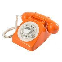 746 RETRO ROTARY DIAL PHONE in Orange