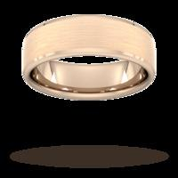 7mm Slight Court Extra Heavy polished chamfered edges with matt centre Wedding Ring in 18 Carat Rose Gold - Ring Size P