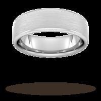 7mm Slight Court Extra Heavy Matt Finished Wedding Ring in Platinum - Ring Size U