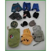 Action Man - shorts, hats and bags