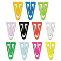 ADVANTUS PC0300 Paper Clips, Plastic, Medium Size, Assorted Colors, 500/Box