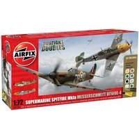Airfix Dogfight Doubles Spitfire Mk1A and Messerschmitt Bf109E-4 1:72 Scale Model Kit