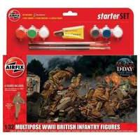 Airfix 1:32 Scale WWII British Infantry Multipose Starter Gift Set
