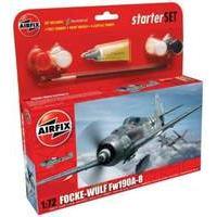 Airfix 1:72 Focke Wulf 190A-A Starter Aircraft Model Set (Small)