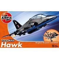 Airfix Quick Build Bae Hawk Aircraft Model Kit (black)
