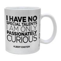 Albert Einstein Only Curious Ceramic Mug