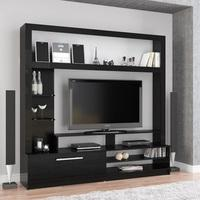 Albury Wooden Entertainment Unit In Black With Drawer