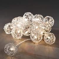 Aluminium wire ball LED string lights, battery
