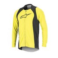 Alpinestars Men\'s Drop 2 Full Zip Long Sleeve Jersey, Large, Acid Yellow Black