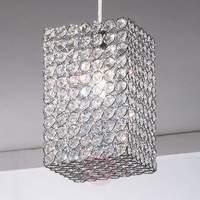 Amaja Crystal Hanging Light Cuboid