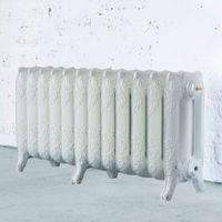 Arroll Montmartre 3 Column Radiator White (W)994mm (H)470mm