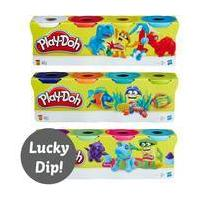 Assorted Play-Doh Classic Colour Set 4 Pack