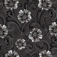 A.S. Creation Liberty Dark Grey & White Floral Wallpaper
