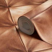 A.S. Creation Move Your Wall Brown Leather Effect Wallpaper