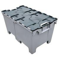 ATTACHED LID CONTAINER WITH PALLET FEET - 1000X600MM
