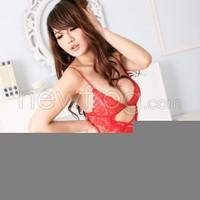 Attractive Women Sexy Lingerie Underwear Lace Dress G-string Handcuff Red