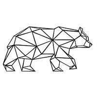 AYA™ DIY Wall Stickers Wall Decals, Geometric Bear Wall art Type PVC Wall Stickers