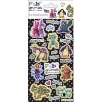 Bang On The Door - Fab-ric Animals - Foil Sticker Pack - Sticker Style