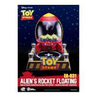 Beast Kingdom Disney Toy Story Egg Attack Alien\'s Floating Rocket Model with Light up Function 18cm