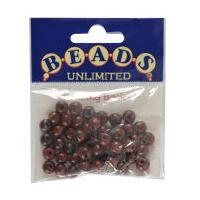 Beads Unlimited Round Polished Wooden Beads Redwood 8mm 50 Pack