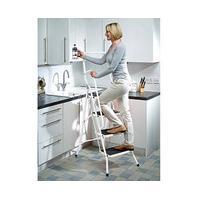 Bergman Safety Stepladder, 3-step, White