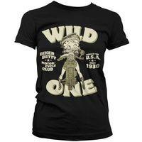 Betty Boop Women\'s T Shirt - Biker Betty