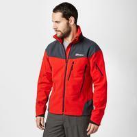 Berghaus Men\'s Choktoi II GORE WINDSTOPPER Fleece - Red, Red