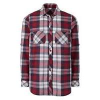 Berry CheckLong Sleeve Shirt With Pocket