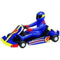 Blue Scalextric Super Kart Slot Car