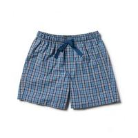 Blue Navy White Large Check Lounge Shorts XXL - Savile Row