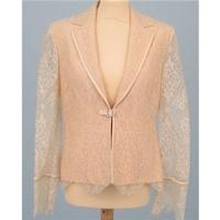 BNWT Veni Infantino size 12 warm golden lace jacket