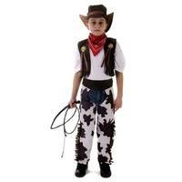 Boys Cowboy Outfit Cow Boy Wild West Cowboy Fancy Dress Costume 4-12 yrs SMALL