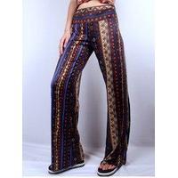 Bohemian Wide Leg Ethic Print Pants